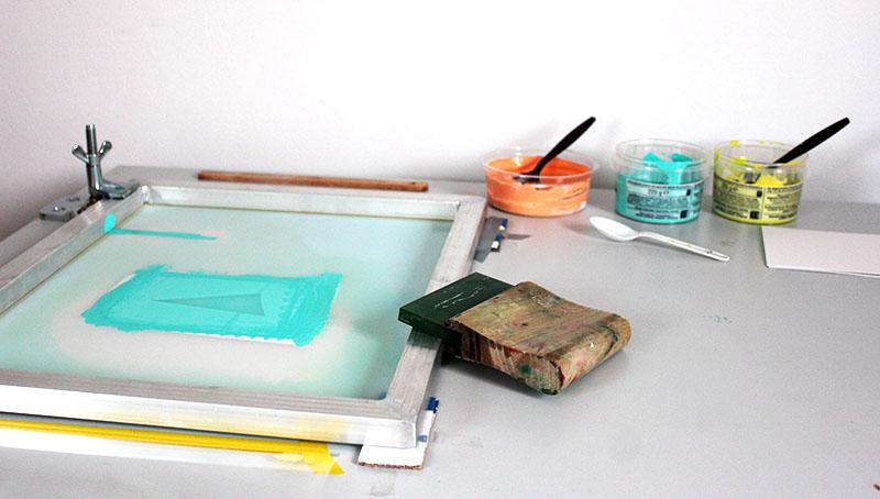 Screen printing workshop with longfeltwant