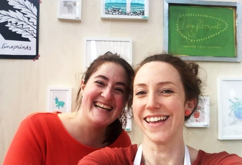 Jessica (left) and Sarah (right) are Utrecht Print Exchange.