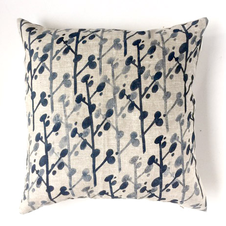 Pauline Greuell handprinted cushion cover