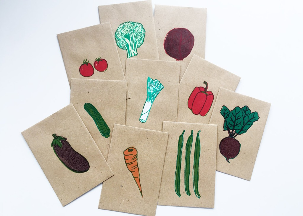 Screen printed seed packets by longfeltwant
